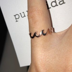 Puravida Wave ring sterling silver